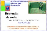 Impermeabilización bajo terreno con bentonita de sodio